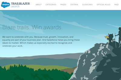 Salesforce Trailblazer Awards Website